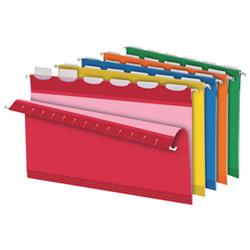 Dossiers suspendus colorés ReadyTab de Pendaflex (ESS42593) - Légal - Paquet de 25 - Assortis
