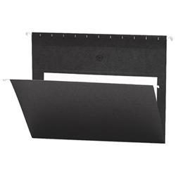 Chemise suspendue de couleur Flex-I-Vision de Smead (SMD64427) - Lettre - Paquet de 25 - Noir