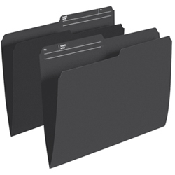 Esselte Single Top Verticle File Folder (ESSR415-BLK) - Letter - 100 Pack - Black