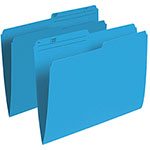 Esselte Single Top Verticle File Folder (ESSR415-BLU) - Letter - 100 Pack - Blue
