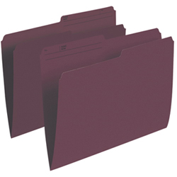 Esselte Single Top Verticle File Folder (ESSR415-BUR) - Letter - 100 Pack - Burgundy
