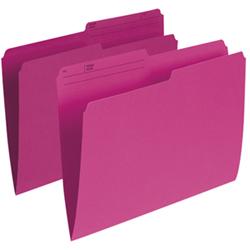 Esselte Single Top Verticle File Folder (ESSR415-PNK) - Letter - 100 Pack - Pink