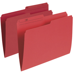 Esselte Single Top Verticle File Folder (ESSR415-RED) - Letter - 100 Pack - Red