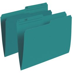 Esselte Single Top Verticle File Folder (ESSR415-TEA) - Letter - 100 Pack - Teal
