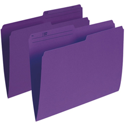 Esselte Single Top Verticle File Folder (ESSR415-VIO) - Letter - 100 Pack - Violet