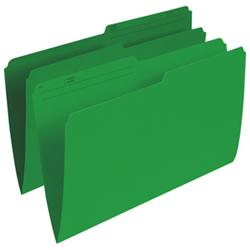 Esselte Single Top Verticle File Folder (ESSR615-GRN) - Legal - 100 Pack - Green