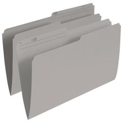 Esselte Single Top Verticle File Folder (ESSR615-GRY) - Legal - 100 Pack - Grey