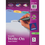 Avery Durable Translucent Write-On Divider (AVE16170) - Assorted Colors