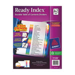 Avery Ready Index Table of Contents A-Z Dividers (AVE11125) - 26 Tabs - Assorted Colours