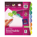 Avery Style Edge Insertable Tab Dividers (AVE11201) - 8 Pack - Assorted