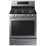 "Samsung 30"" 5.8 Cu. Ft. Self-Clean Gas Convection Range (NX58H5650WS) - Stainless Steel"