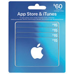 App Store & iTunes Gift Card - $60 Multipack