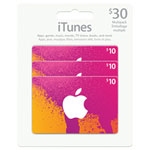 Emballage multiple de 30 $ de cartes iTunes - En magasin seulement