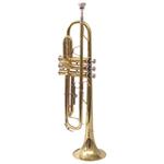 Trompette en cuivre avec étui de Nuova (NTR-3L ) - Cuivre jaune