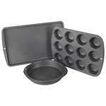 Wilton Recipe Right Non-Stick Bakeware Pan Set - 3 Pieces