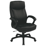 Work Smart Eco Leather Executive Chair - Black