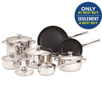 Paderno Culina 12-Piece Stainless Steel Cookware Set