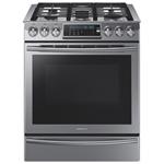 Cuisinière à gaz encastrable 5 brûleurs à four à convection véritable 5,8 pi3 30 po de Samsung -Inox
