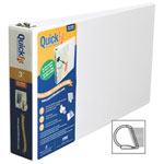 """QuickFit 3"""" View Binder With a Secure D-Ring Closure - White (94050)"""