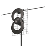 Antenne d'intérieur/extérieur ClearStream pour la télévision numérique (C2-V-CJM-CN)