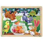 Melissa & Doug Pets Wooden Jigsaw Puzzle - 12 Pieces