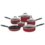 Cuisinart Advantage 11-Piece Non-Stick Cookware Set - Red
