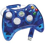 Manette filaire Rock Candy de PDP pour Xbox 360 - Bleu