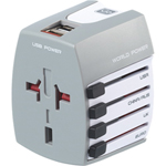 Go Travel Worldwide Plug Adapter with USB - English