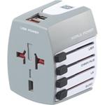 Adaptateur de fiche mondial avec USB de Go Travel - Anglais