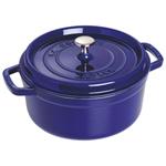 Staub 3.8L Cast Iron Round Cocotte - Dark Blue
