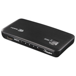 Rocketfish 4-Port HDMI Switch Box (RF-G1185-C) - Black