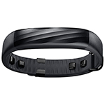 Jawbone UP3 Fitness Tracker with Heart Rate Monitor - Black Twist