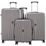 it luggage Doppler 3-Piece Hard Side 8-Wheeled Luggage Set - Charcoal