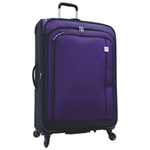 "Samboro Feather Lite 28"" 4-Wheeled Expandable Luggage - Purple"
