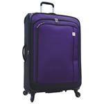 """Samboro Feather Lite 28"""" 4-Wheeled Expandable Luggage - Purple"""