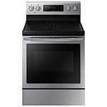 "Samsung 30"" 5.9 Cu. Ft. Self-Clean True Convection Freestanding Smooth Top Electric Range"