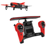 Parrot Bebop Quadcopter Drone with Camera & Controller Bundle - Ready-to-Fly - Red