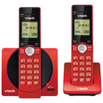VTech DECT 2-Handset Cordless Phone with Caller ID (CS6919-26) - Red