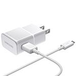 Samsung 1 m (3 ft.) Adaptive Fast Charging MicroUSB Wall Charger (EP-TA20JWEUGCA) - White