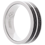 Le Reve Collection Black Tungsten Ring - 10
