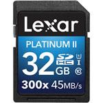 Carte SDHC/SDXC Platinum II classe 10 de 32 Go de Lexar