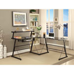 Broderick Contemporary Corner Desk - Black
