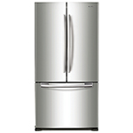 """Samsung 33"""" 17.5 Cu. Ft. French Door Counter-Depth Refrigerator (RF18HFENBSR) - Stainless Steel"""