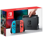 Nintendo Switch Console with Neon Red/Blue Joy-Con