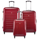 Swiss Gear Extravagance 3-Piece Hard Side 4-Wheeled Expandable Luggage Set - Ruby Red