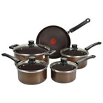 T-fal Natura 9-Piece Cookware Set (A2809052) - Brown