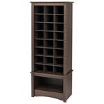 24-Cubby Shoe Storage Cabinet - Espresso