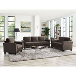 Westin Transitional Micro Suede Loveseat - Brown