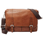Sac de messager Graham de Fossil - Cognac