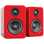 Kanto YU2 50-Watt Powered Bookshelf Speakers - Gloss Red - Pair